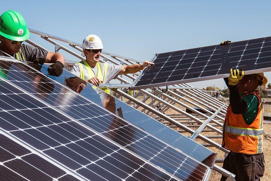 Installation Photovoltaikanlage