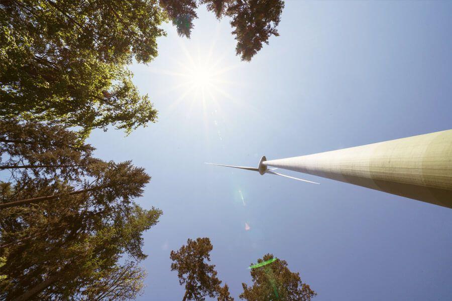 Windkraftanlage in Freiburg