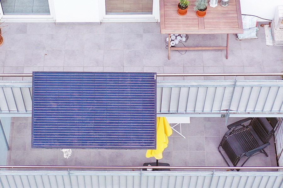 Photovoltaikanlage für den Balkon