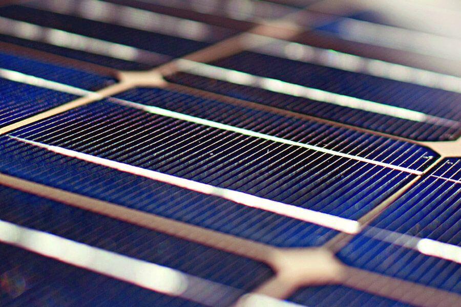 Detailaufnahme Photovoltaikanlage