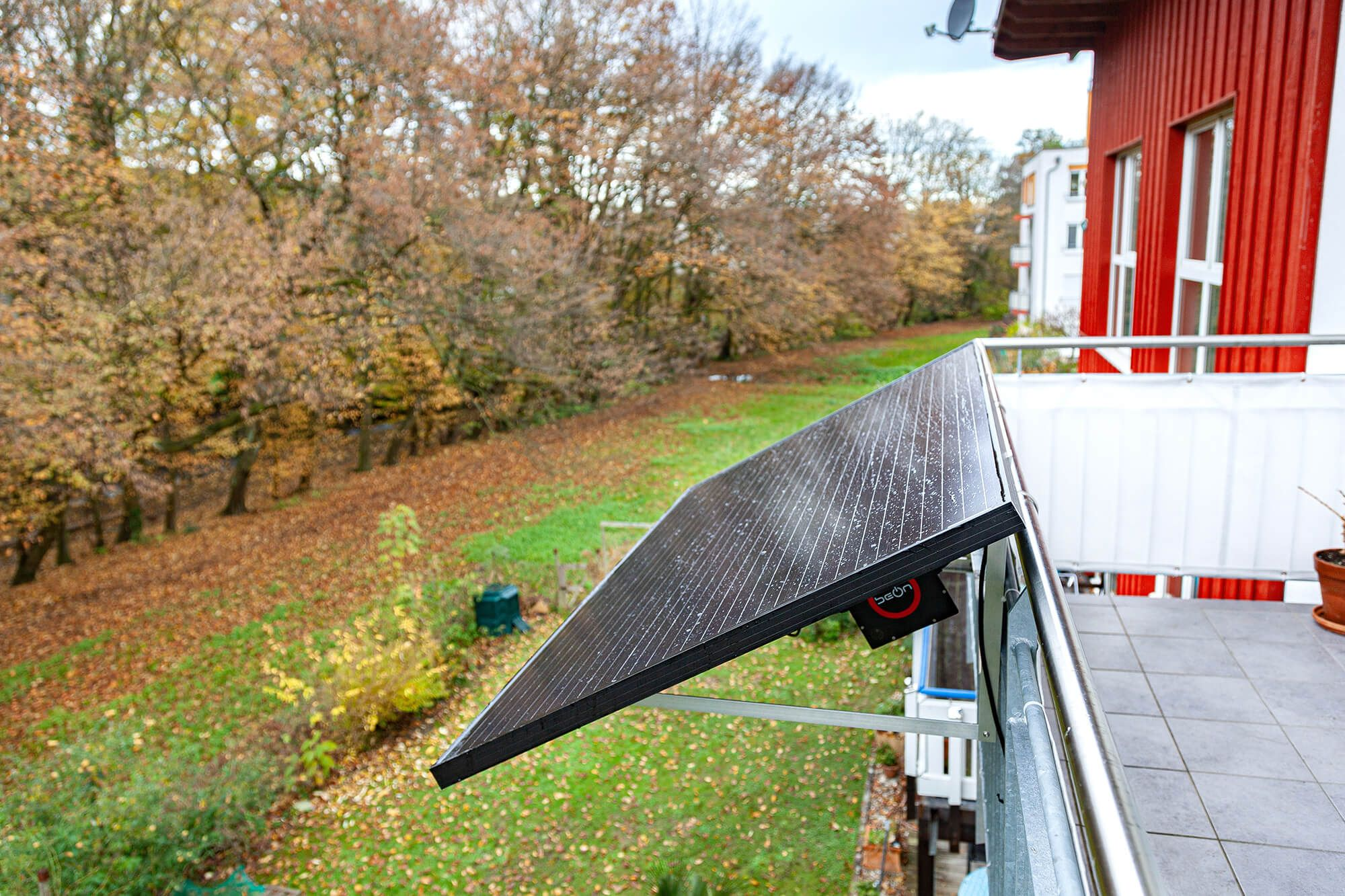 Solaranlage für Balkon