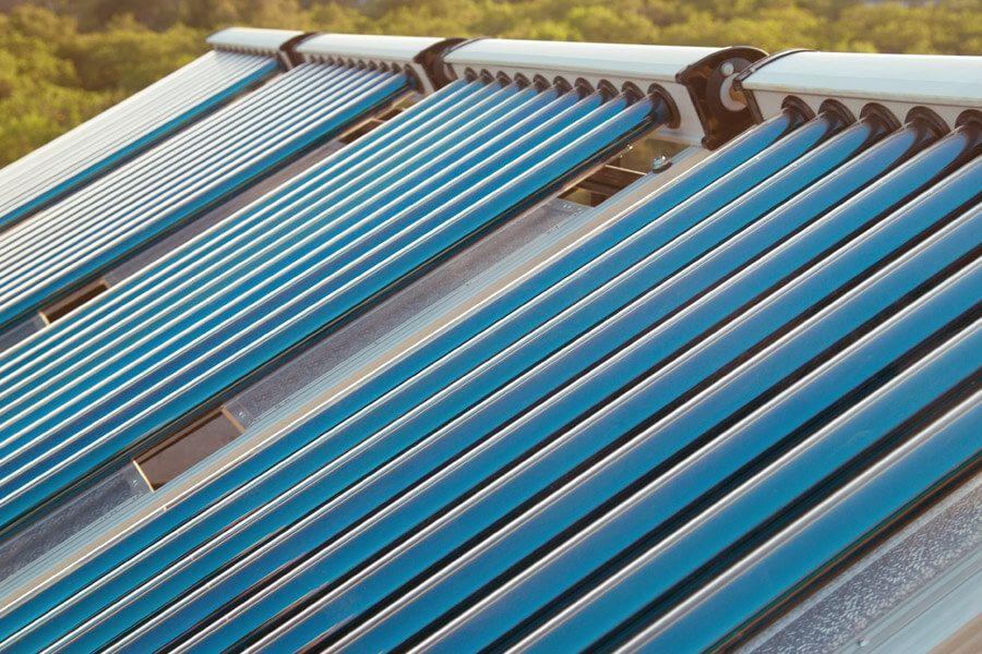 Solarthermieanlage auf dem Hausdach