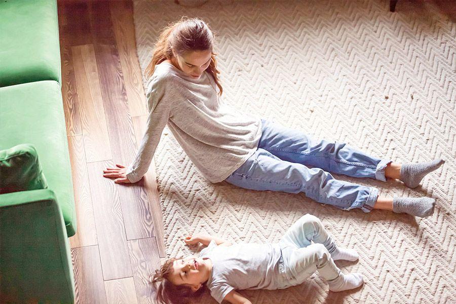 Wohlfühlwärme durch die Fußbodenheizung