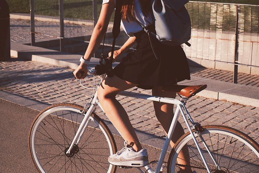 Fahrradfahren ist in der Stadt oft die schnellere Alternative