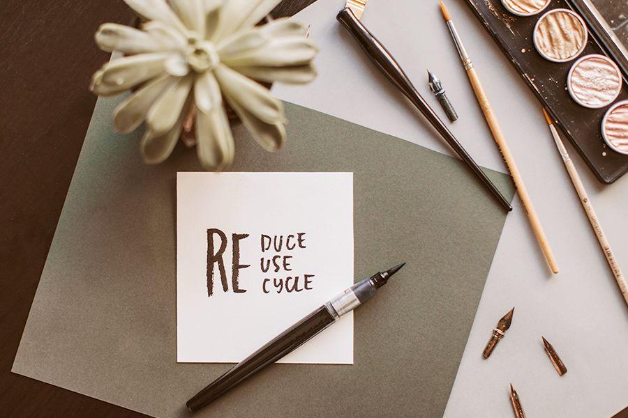 """Reduce, reuse, recycle: Die drei """"R""""s einer Kreislaufwirtschaft."""