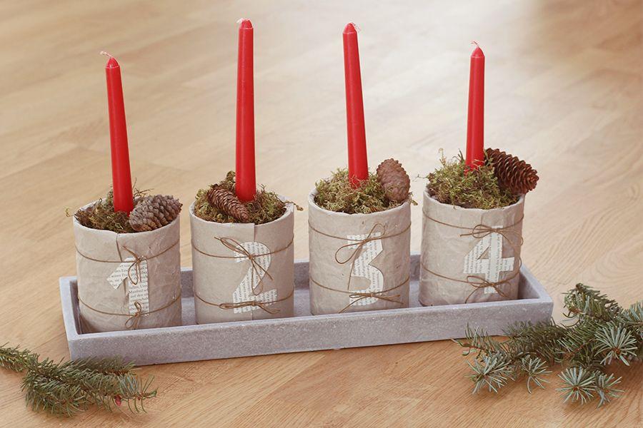 DIY Adventskranz aus alten Konservendosen