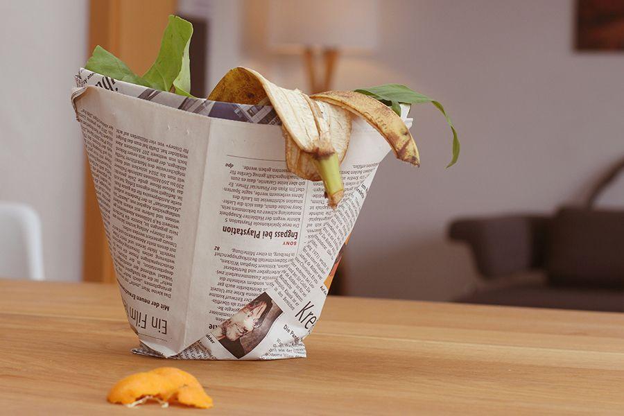 DIY Bio Müllbeutel aus Zeitung