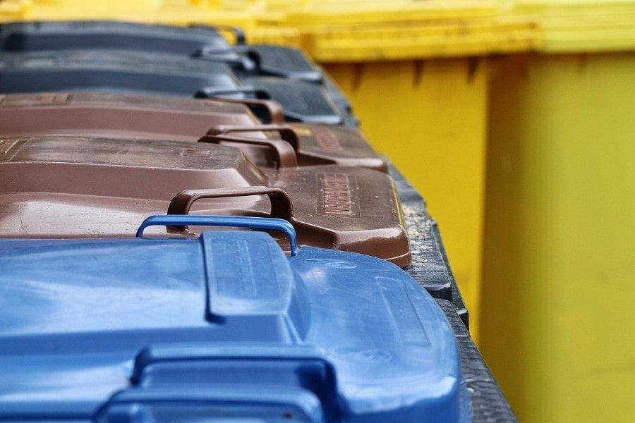 Zur Mülltrennung kommen verschiedene Tonnen zum Einsatz.