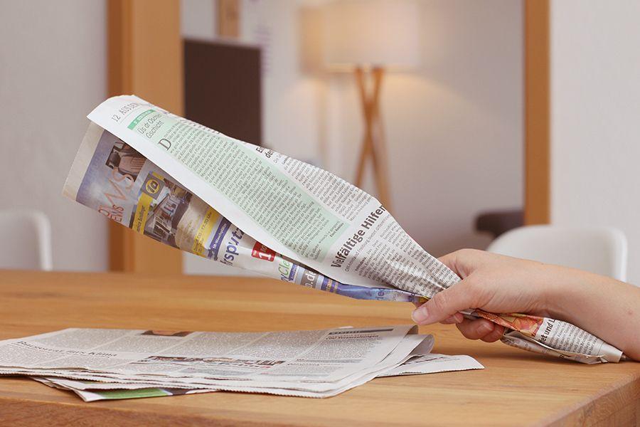 DIY Bio Müllbeutel aus Zeitungen