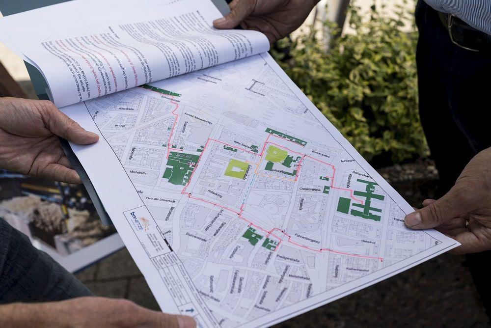 Untersuchungsgebiet für eine Potenzialanalyse im Rahmen eines energetischen Quartierkonzepts