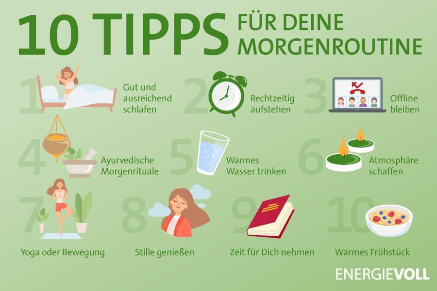 Unsere 10 Tipps für Deine Morgenroutine.