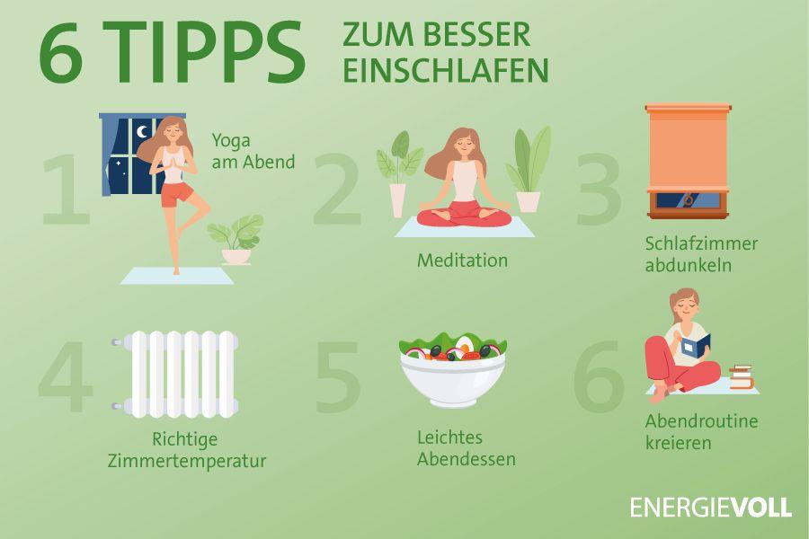 6 Tipps zum besser Einschlafen
